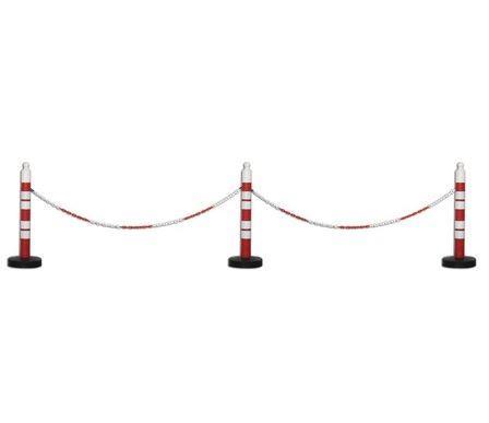 Force Chain 6 Mm 10 Mtr. Kırmızı Beyaz Plastik Zincir
