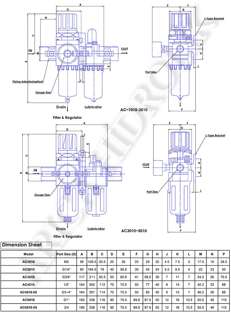 """pnomatik sartlandirici resim 10019 - Pnömatik Şartlandırıcı - İkili - Kare Tip - 1"""" -"""