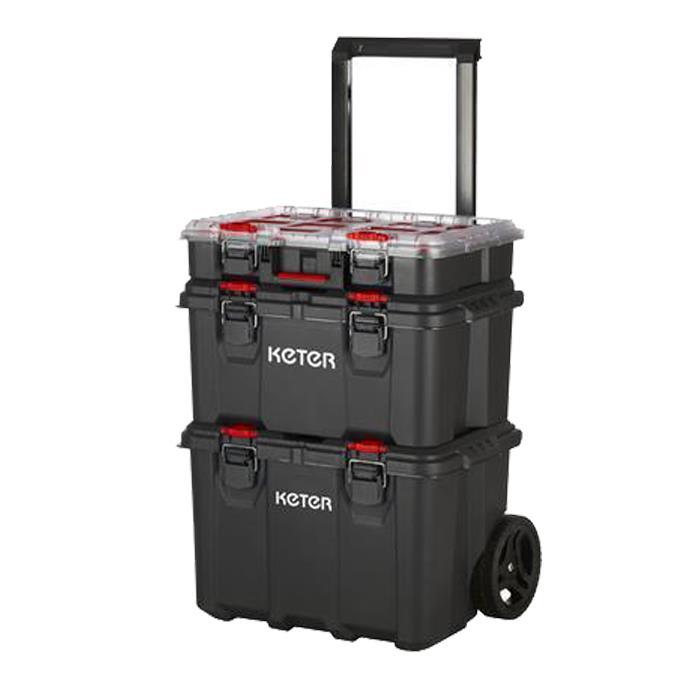 Keter 17210365 Pack N Stack Hart Modular System 3 Katlı Tekerlekli Takım Çantası fiyatı