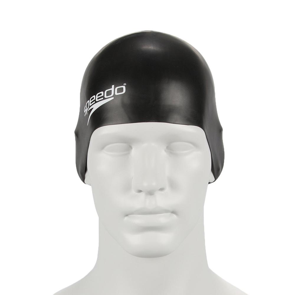 Speedo Plain Moulded Siyah Slicone Çocuk Yüzücü Bone Sp8709900001