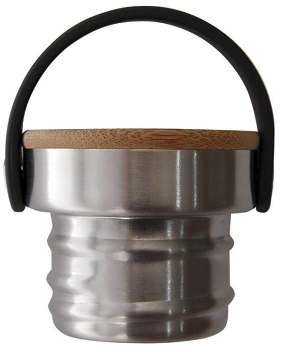 Laken Çelik Düz Şişe Bamboo Kapak